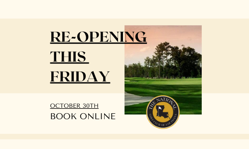 We're re-opening for your golfing enjoyment!